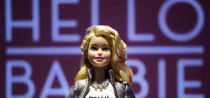 Hello Barbie was the first AI enabled doll and allowed children to talk with Barbie.