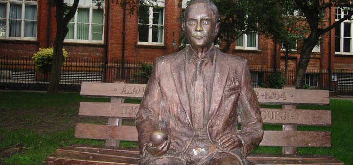 What is the Turing Test - A sculpture of Alan Turing, the inventor of the Turing Test.