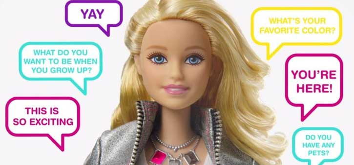 Hello Barbie could say over 8,000 words and play 30 different immersive games with the children that owned her.