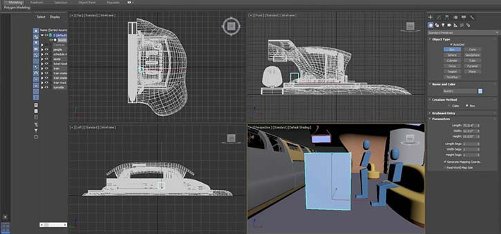 A screenshot of an Autodesk file for a spaceship.