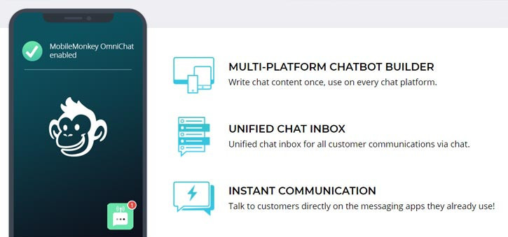 MobileMonkey is easily one of the best chatbots for the Real Estate market.