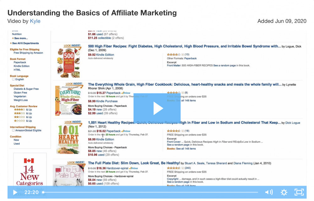 Click to view the video on Understanding the Basics of Affiliate Marketing.