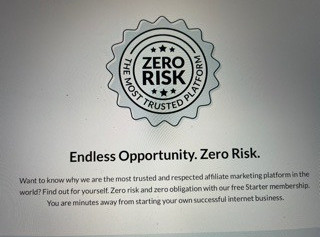 Wealthy Affiliate, Zero Risk, The most trusted platform. Endless opportunity, zero risk.