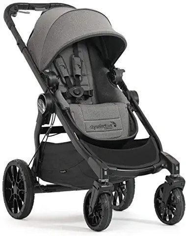 Baby Jogger City Select LUX Single Stroller - Premium Ash