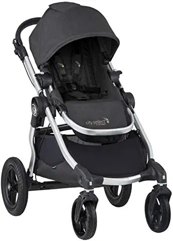Baby Jogger City Select Stroller - Jet with Silver Frame