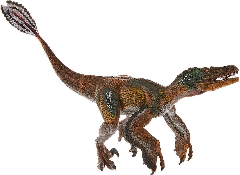 Feathered Velociraptor and Tyrannosaurus Rex