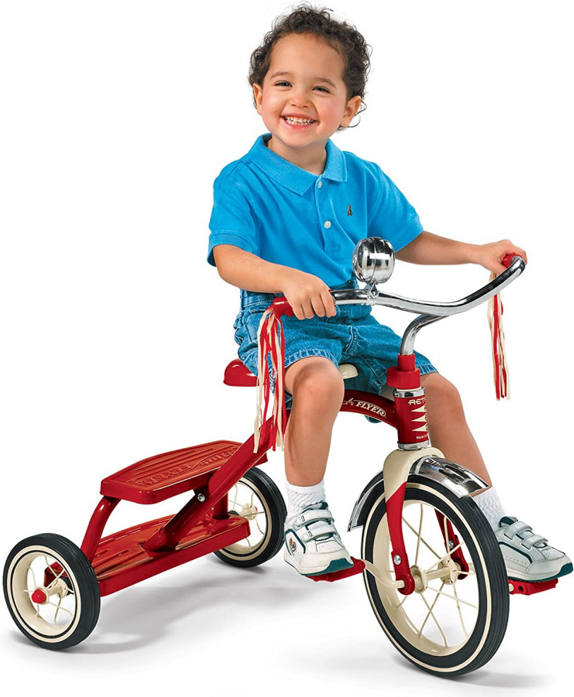 Radio Flyer Classic Red Dual Deck Tricycle Fun Outdoor Games For Kids