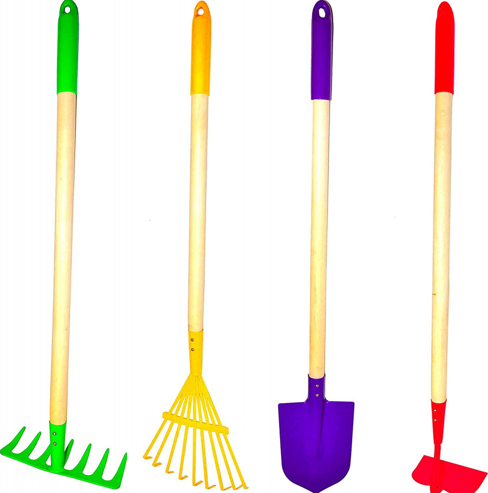 G & F Products Just for Kids Garden Tool Set 4-Piece Fun Outdoor Games For Kids