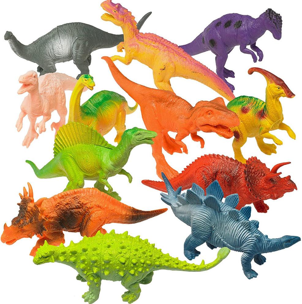 "Prextex Realistic Looking 7"" Dinosaurs Pack"