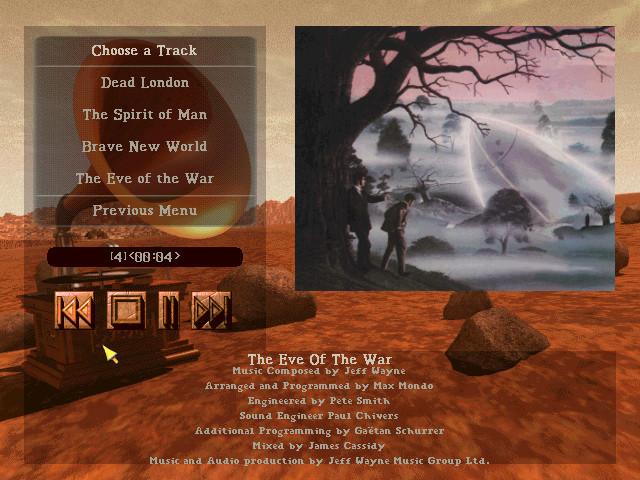 CD in game music menu