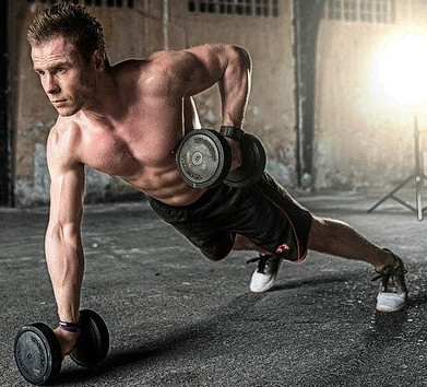 man performing one of the 10 best home workouts routine