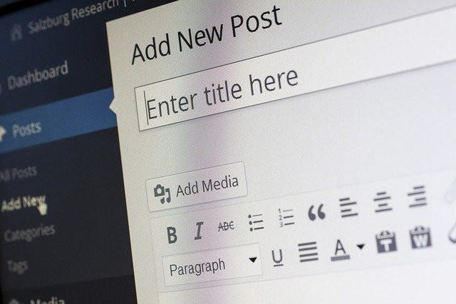 wordpress, blogging post