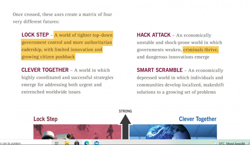 Four scenarios