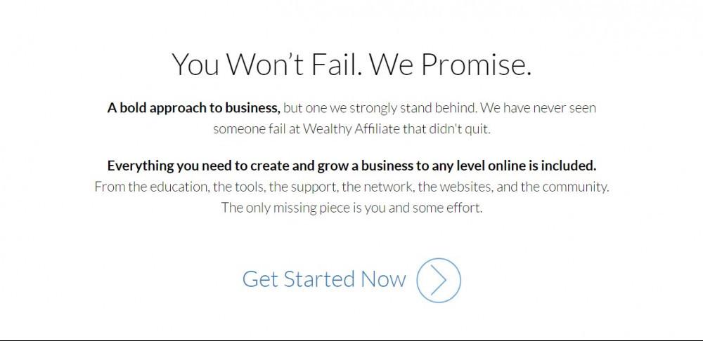 Promise of no failing, WA