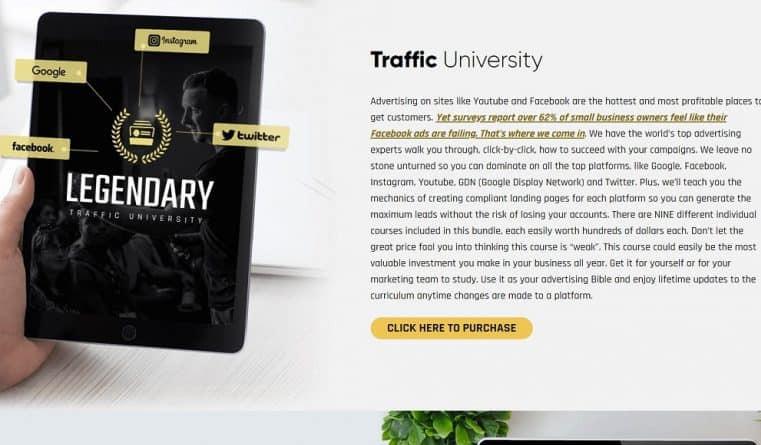 Legendary marketer Traffic University