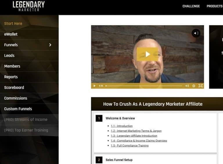 Legendary Marketer affiliate program