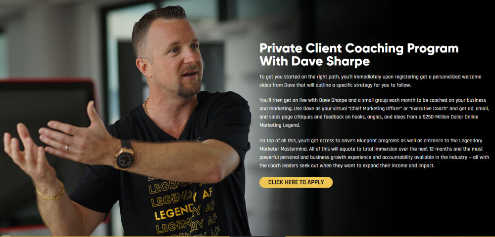 Private Client Coaching wіth Dave Sharpe