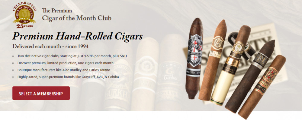 Join The Premium Hand-Rolled Cigars Screeshot.