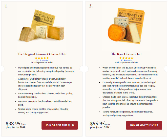 Join the Original Gourmet Cheese Club