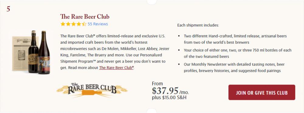 The Rare Beer Club Screenshot.