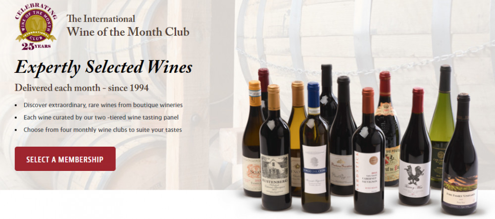 Join the International Wine of the month Club Screenshot.