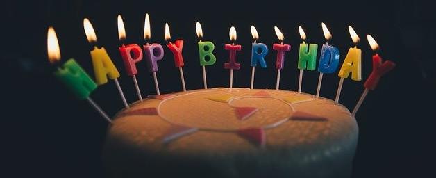 Happy Birthday to you. Celebrate not alone. Birthday cake