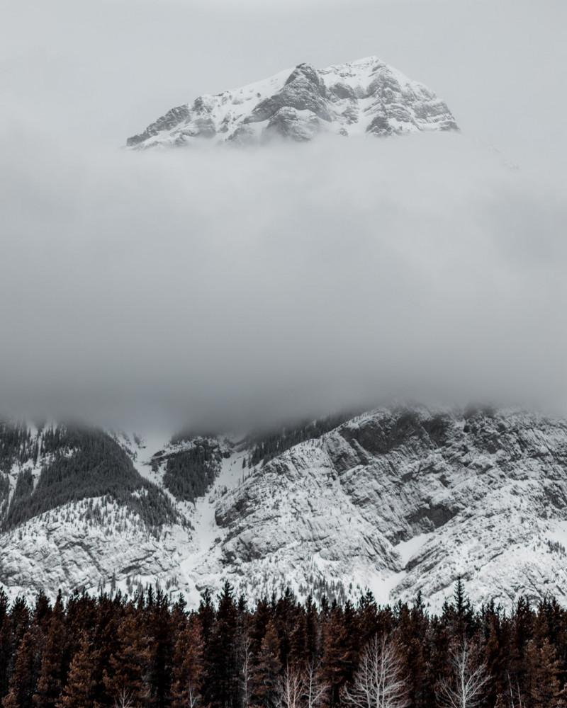 Kananaskis mountain in winter