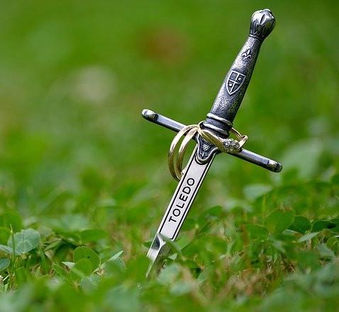 Sword in grass