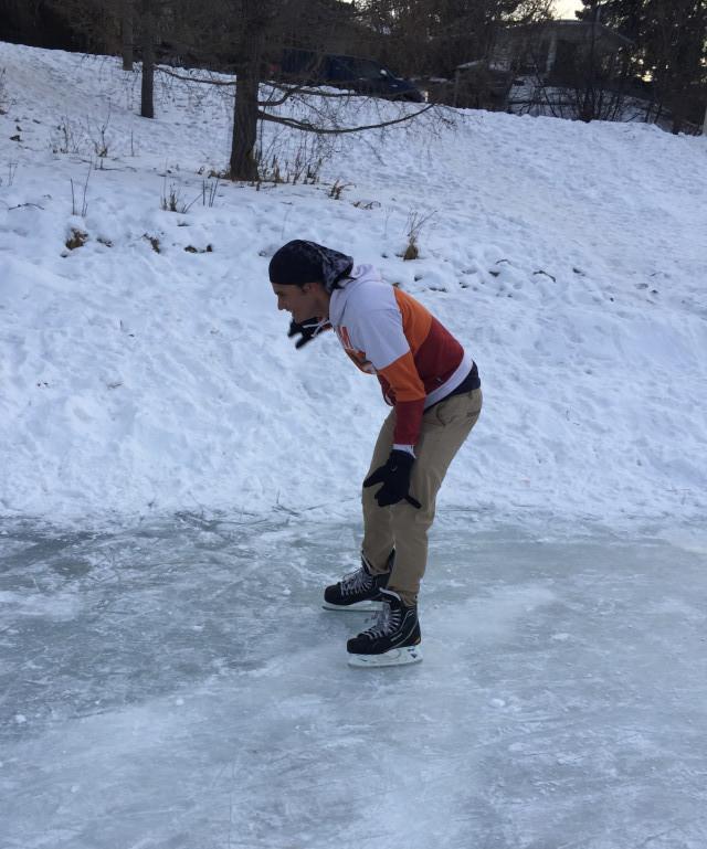 Me ice-skating