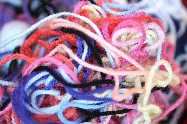 tangled knot of yarn
