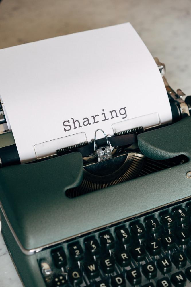 Typewriter sharing