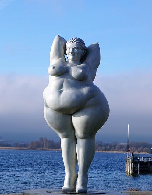 Fat lady sculpture