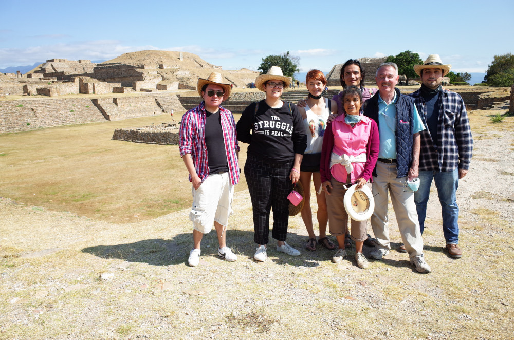 Group photo in Monte Alban