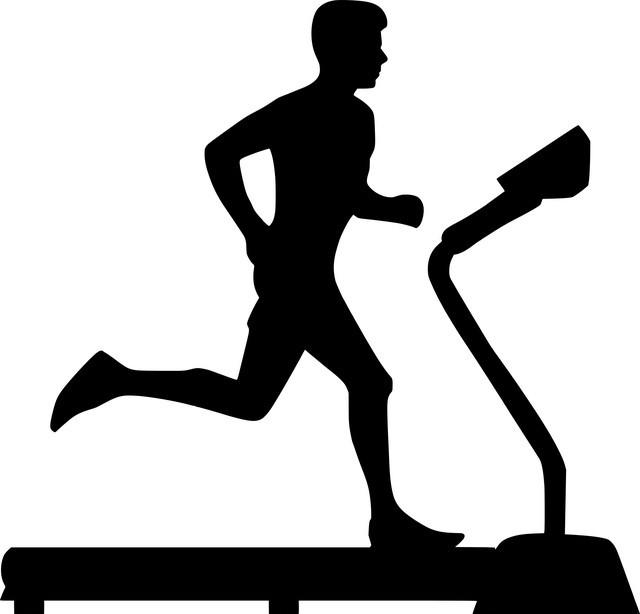 Illustration of man on treadmill
