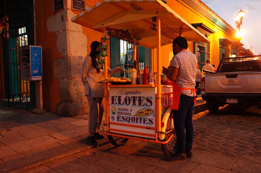 Food stall in Oaxaca