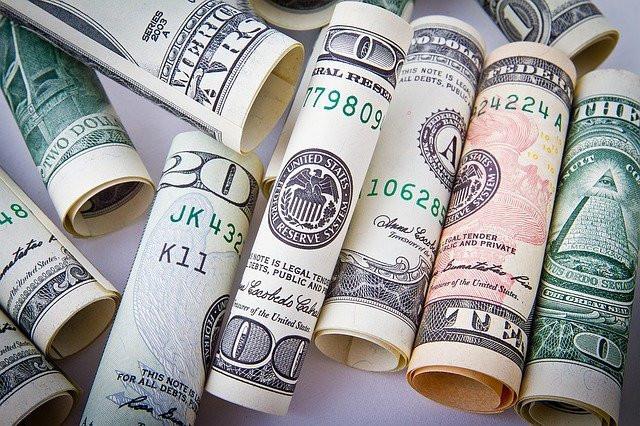 Rolled American bills