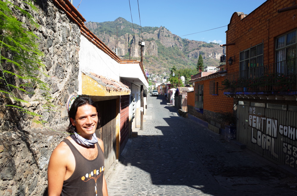 Me standing on a street in Tepoztlán
