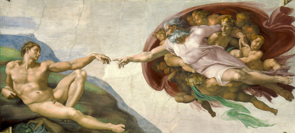 Image showing The Creation of Adam by Michaelangelo