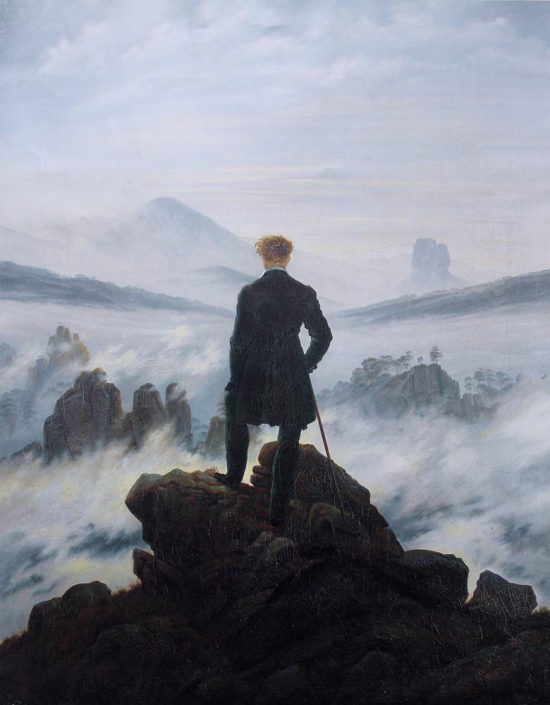 Wanderer above the sea of fog by Caspar David
