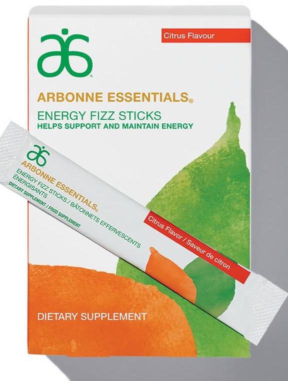 Arbonne energy Fizz Sticks Citrus