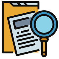 Magnifying Glass searching documents
