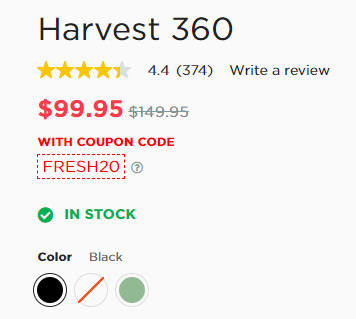 Cost for Harvest 360