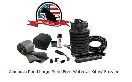 Pond Free Waterfall Kit w/stream