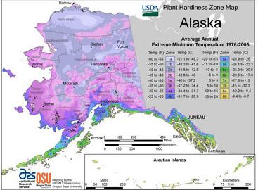 Alaska Hardiness Zones