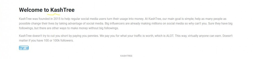 Kash Tree Home Page
