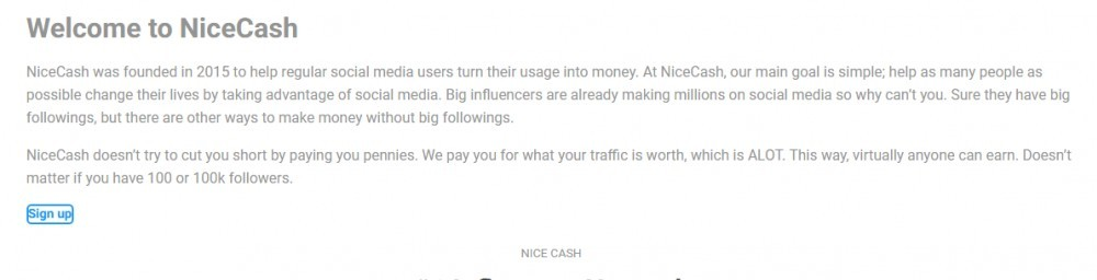 NiceCash About Page