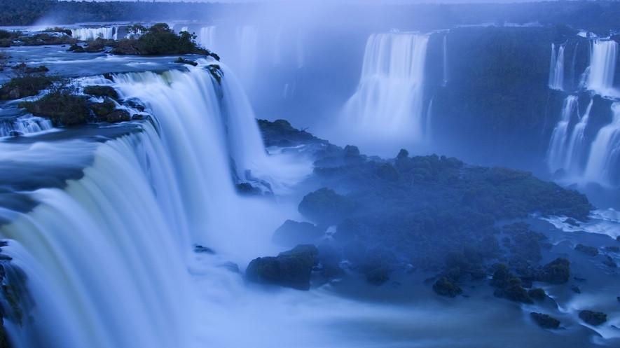 Iguazu Falls, border of Brazil and Argentina at dawn on 06/23/2017. Photo by Wolfgang Kaehler/LightRocket via Getty Images