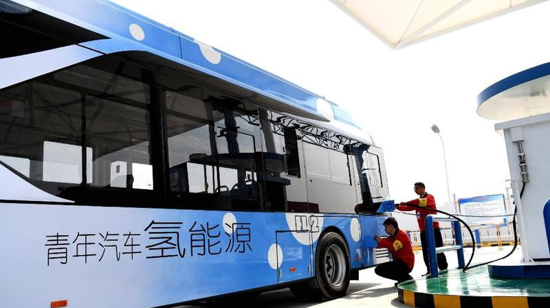 In China, an increasing number of buses use hydrogen