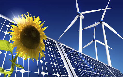 wind turbines & solar panels