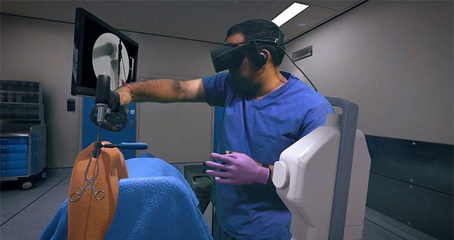 Osso VR surgical training platform.